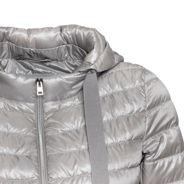 Grey down jacket with contrasting edges                                                                                                                HERNO