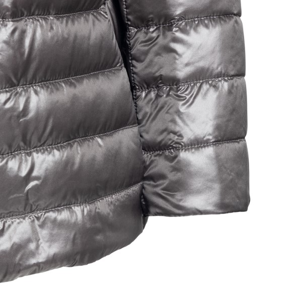 Double-breasted grey down jacket                                                                                                                       HERNO