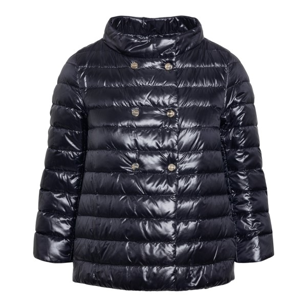 Double-breasted black down jacket                                                                                                                     Herno PI1243D front