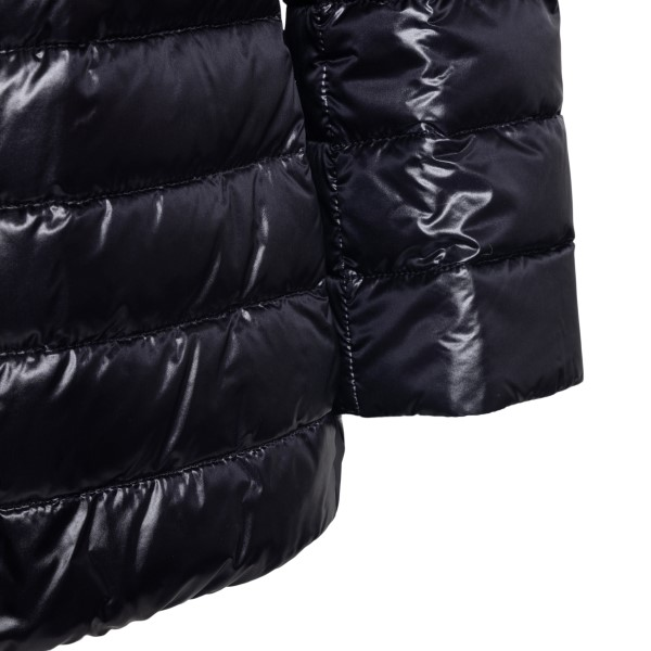 Double-breasted black down jacket                                                                                                                      HERNO