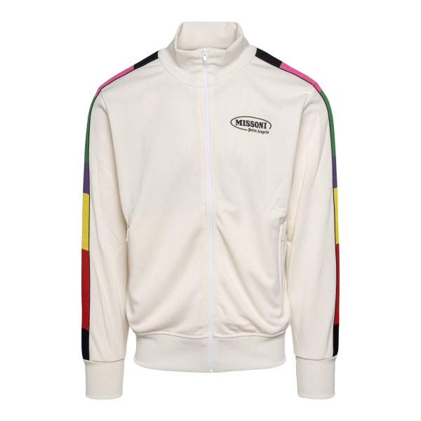 White sweatshirt with colored bands                                                                                                                   Palm Angels X Missoni PMBD001F21FAB009 back