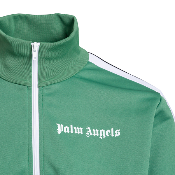 Green sweatshirt with brand name                                                                                                                       PALM ANGELS