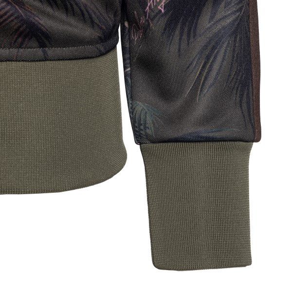 Green jacket with jungle patterned zip                                                                                                                 PALM ANGELS