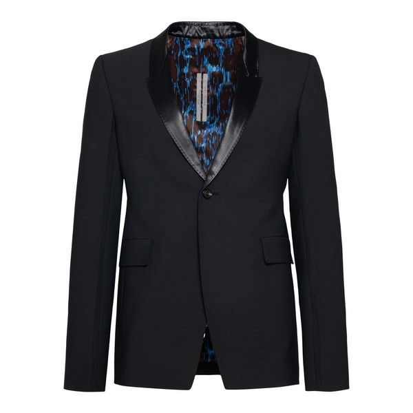 Black blazer with shiny lapels                                                                                                                        Rick owens RU20F3738 front
