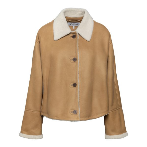 Short coat with shearling                                                                                                                             Loewe S359Y19L17 back