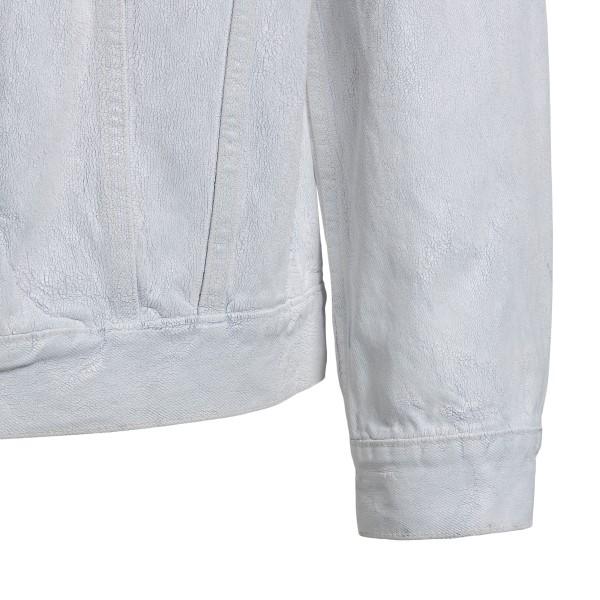 Crackle effect white denim jacket                                                                                                                      MAISON MARGIELA