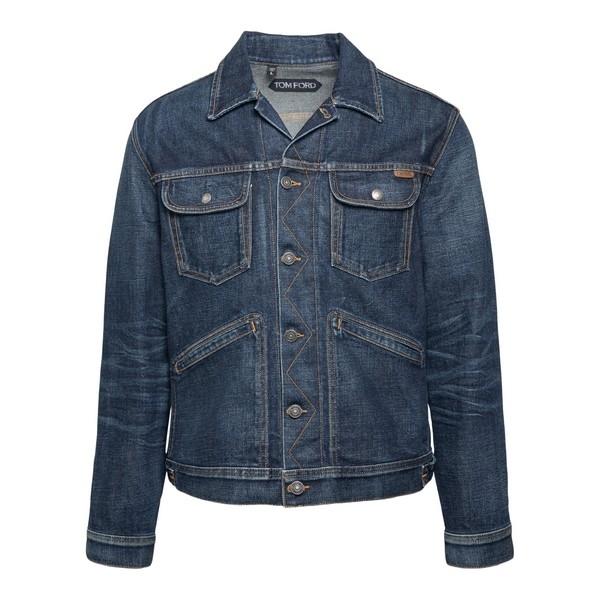 Blue denim jacket                                                                                                                                     Tom ford TFD116 front