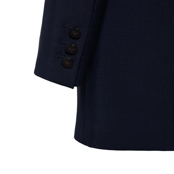 Blue  double-breasted blazer                                                                                                                           VALENTINO