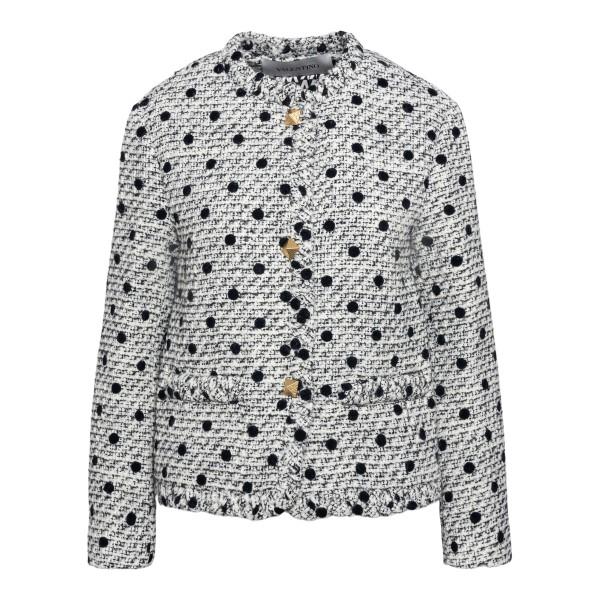 White polka dot jacket                                                                                                                                Valentino VB3CE275 front