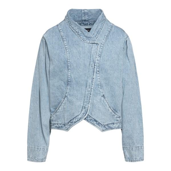 Light blue denim jacket with faded effect                                                                                                             Isabel marant VE1544 front