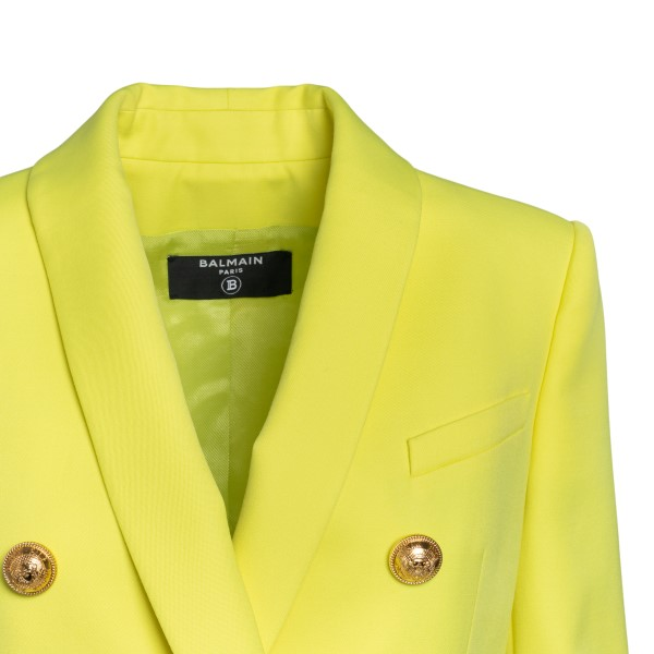Fluo yellow blazer with gold buttons                                                                                                                   BALMAIN