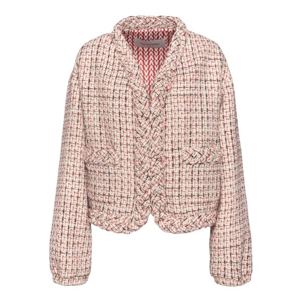 Checkered jacket with weaves                                                                                                                           VALENTINO