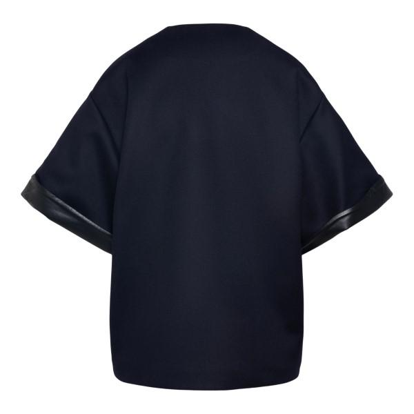 Wide dark blue T-shirt                                                                                                                                 VALENTINO