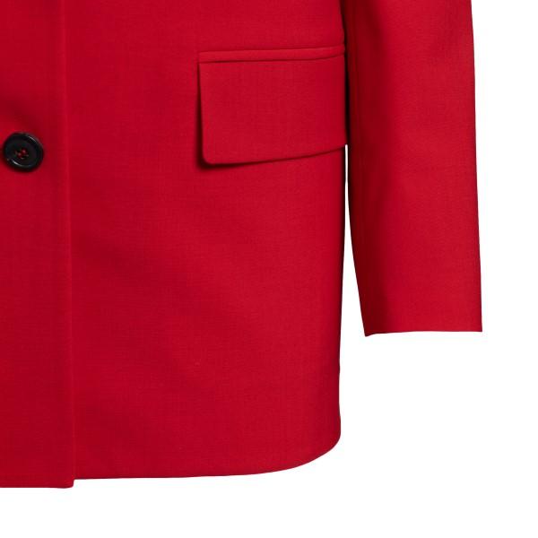 Blazer rosso con applicazione a fiori                                                                                                                  VALENTINO VALENTINO