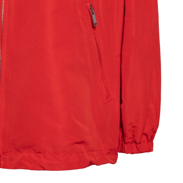 Red jacket with flower applications                                                                                                                    VALENTINO