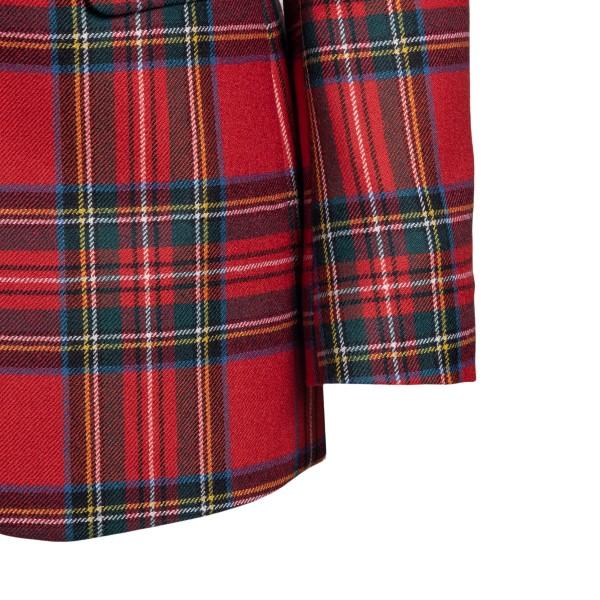 Blazer rosso con motivo tartan                                                                                                                         RED VALENTINO RED VALENTINO
