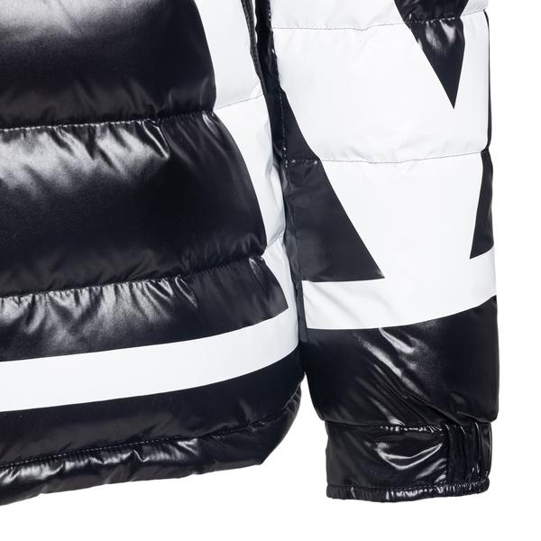 Black down jacket with maxi logo print                                                                                                                 VALENTINO