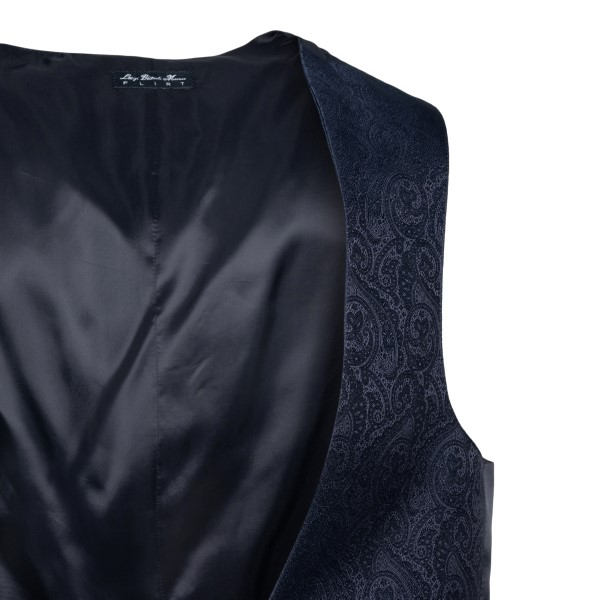 Blue vest with paisley pattern                                                                                                                         LUBIAM