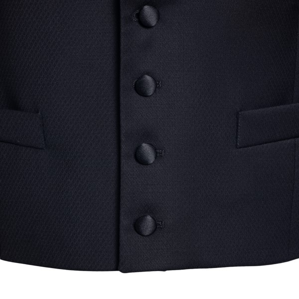 Black vest with shawl lapels                                                                                                                           LUBIAM