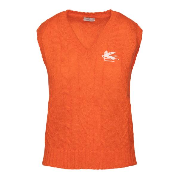 Orange waistcoat with logo                                                                                                                             ETRO