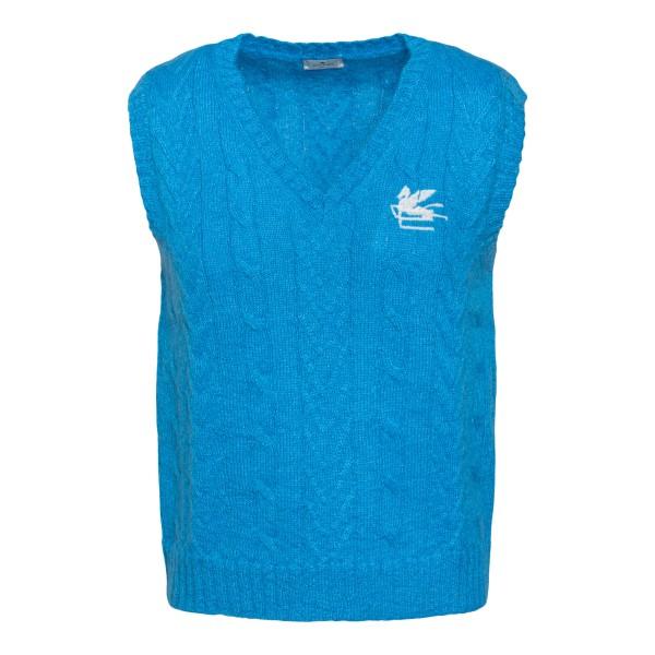Blue waistcoat with logo                                                                                                                              Etro 1M503 back