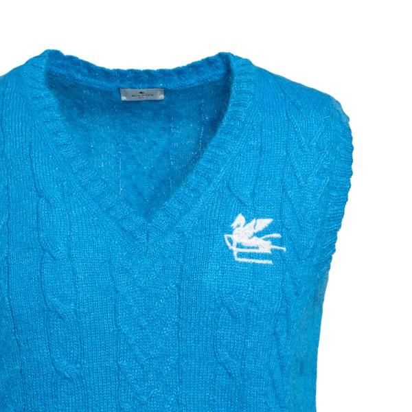 Blue waistcoat with logo                                                                                                                               ETRO