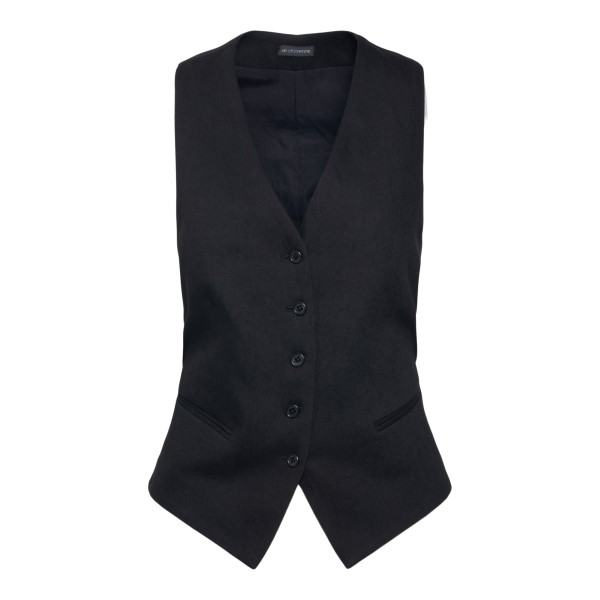 Black vest with adjustable ribbons                                                                                                                    Ann Demeulemeester 21011164 back