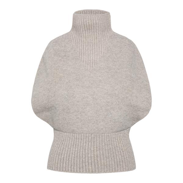 Sleeveless beige sweater                                                                                                                              Bottega Veneta 679759 back