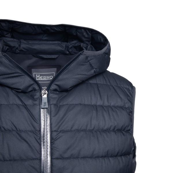 Blue padded vest with back pocket                                                                                                                      HERNO