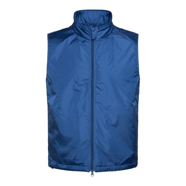 Giacca a gilet in colore blu                                                                                                                          Aspesi PI21 retro