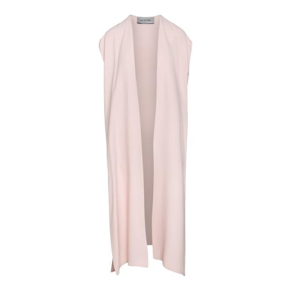 Long light pink waistcoat                                                                                                                             Valentino VB3CF095 back