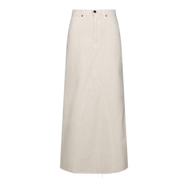 Long flared skirt in ivory color                                                                                                                      Khaite 1040 back