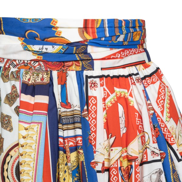 Long multicolored skirt with bow                                                                                                                       ETRO