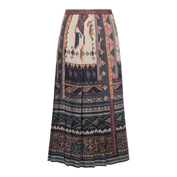 Pleated skirt with pattern                                                                                                                             ETRO