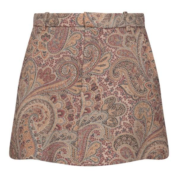Paisley patterned trouser skirt                                                                                                                       Etro 18206 back
