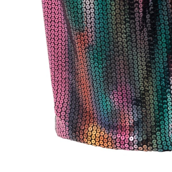 Multicolor sequinned long skirt                                                                                                                        THE ATTICO