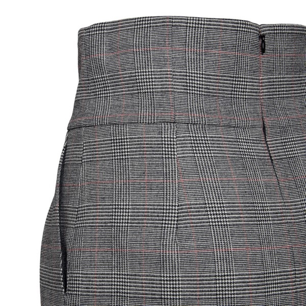 Black and grey checed longuette skirt                                                                                                                  ALEXANDRE VAUTHIER