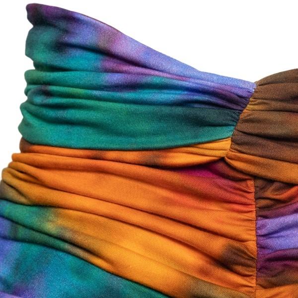 Multicolored tie-dye mini skirt                                                                                                                        THE ATTICO