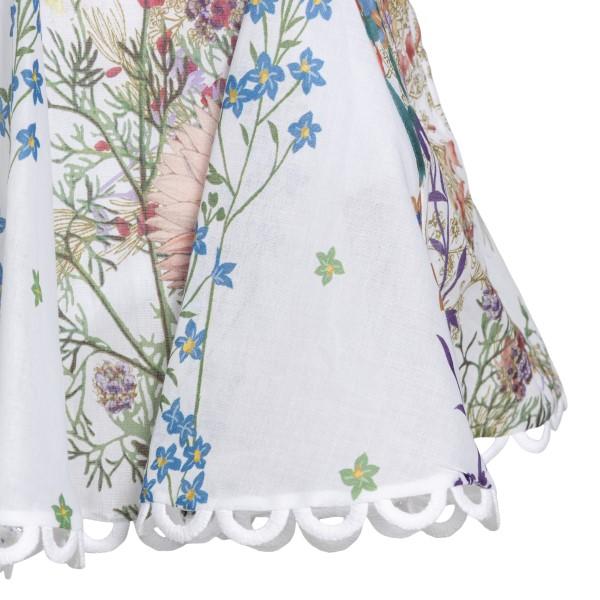 White floral mini skirt                                                                                                                                CHARO RUIZ