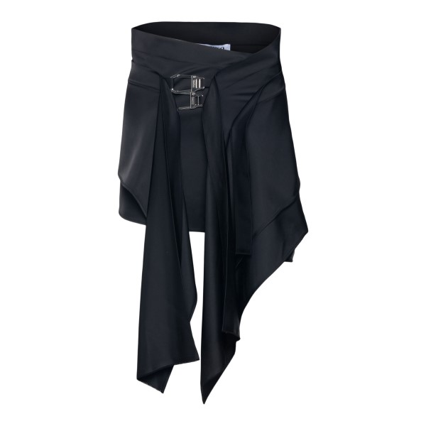 Black mini skirt with snap hooks                                                                                                                      The Attico 213WCS61 back