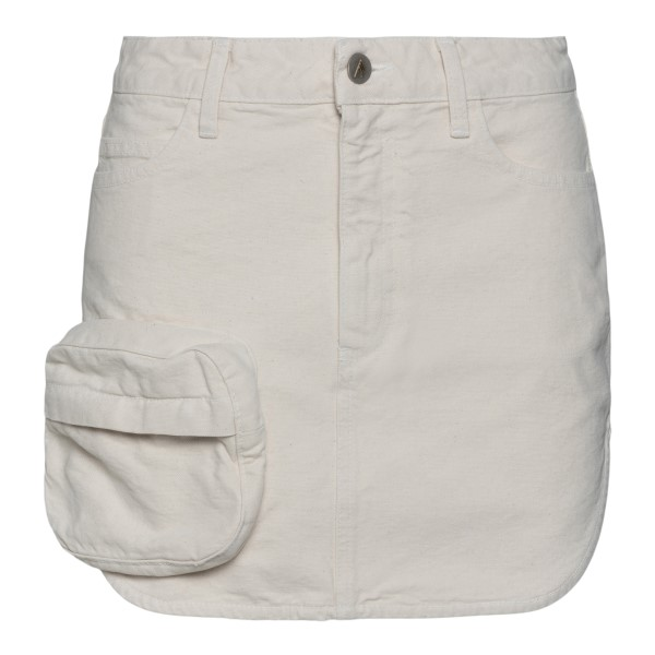 White mini skirt with patch pocket                                                                                                                    The Attico 213WCS73 back