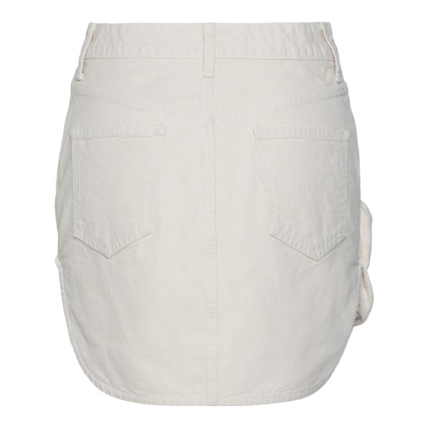 White mini skirt with patch pocket                                                                                                                     THE ATTICO