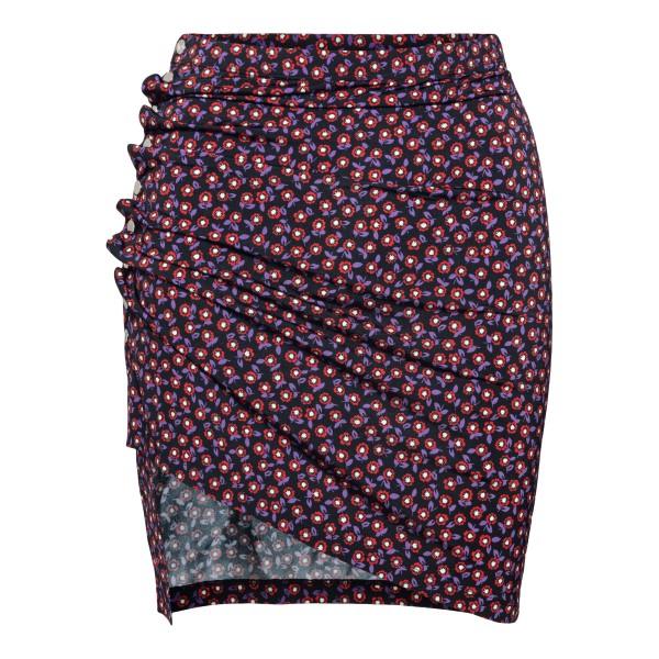 Floral mini skirt                                                                                                                                     Paco Rabanne 21AJJU226VI0295 back