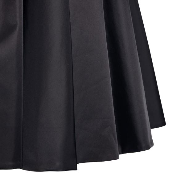 Black flared skirt with logo                                                                                                                           PRADA