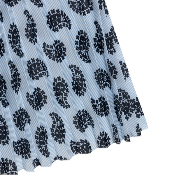 Light blue skirt with graphic print                                                                                                                    MSGM