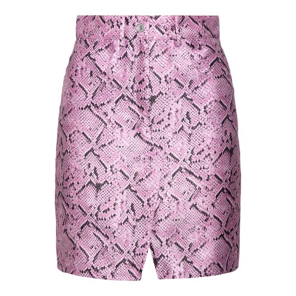 Pink snake effect mini skirt                                                                                                                           MSGM