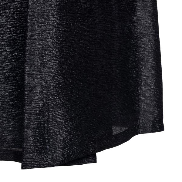 Shiny black midi skirt                                                                                                                                 EMPORIO ARMANI