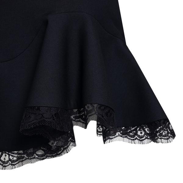 Mini skirt with ruffle                                                                                                                                 ALEXANDER MCQUEEN