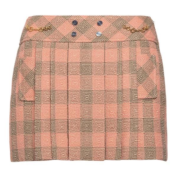 Minigonna rosa a quadri                                                                                                                               Gucci 633226 fronte
