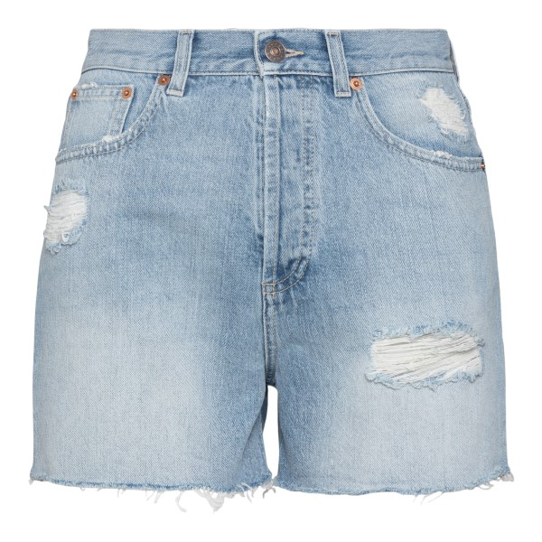 Denim shorts with cat embroidery                                                                                                                      Gucci 638061 back